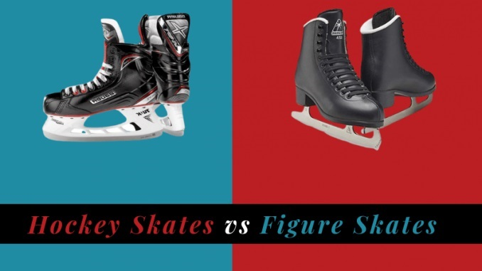 difference between figure skates and hockey skates